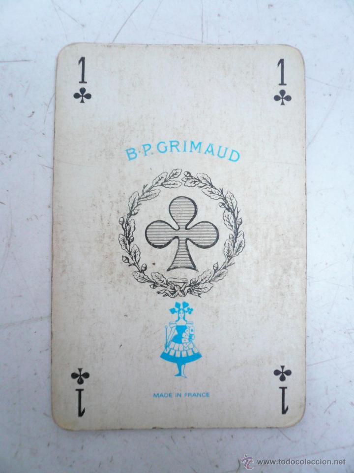 Barajas de cartas: BARAJA FRANCESA B.P. GRIMAUD. ESTUCHE CON DOS BARAJAS - Foto 7 - 53984421