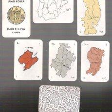 Barajas de cartas: BARAJA JUEGO DE PROVINCIAS DE JUAN ROURA AÑO 1940. 52 CARTAS + 1 PRESENTACION. Lote 164441302