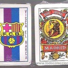 Barajas de cartas: BARAJA NAIPE ESPAÑOL, 40 CARTAS . VISCA EL BARÇA. PRECINTADA. FUTBOL CLUB BARCELONA. AS MADRID. Lote 89625095