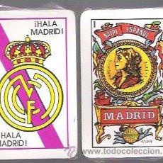 Barajas de cartas: BARAJA NAIPE ESPAÑOL EURO TRES, CON REVERSO DE HALA MADRID. 40 CARTAS. PRECINTADA. R. MADRID, FUTBOL. Lote 54004155