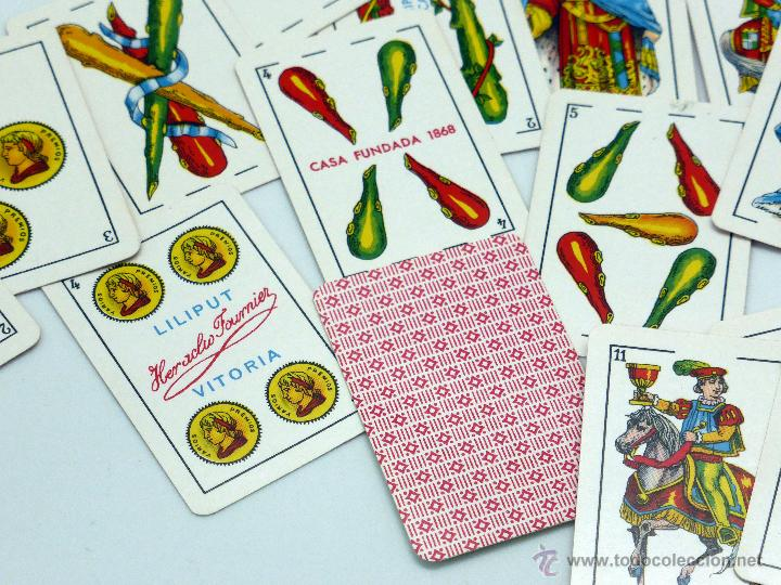 Barajas de cartas: Baraja Liliput Heraclio Fournier 40 cartas completa sin caja - Foto 2 - 54027126