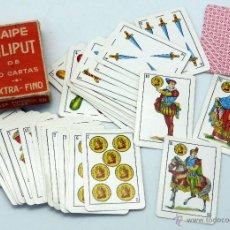 Barajas de cartas: MINI BARAJA LILIPUT HERACLIO FOURNIER 40 CARTAS COMPLETA CON CAJA. Lote 54027149