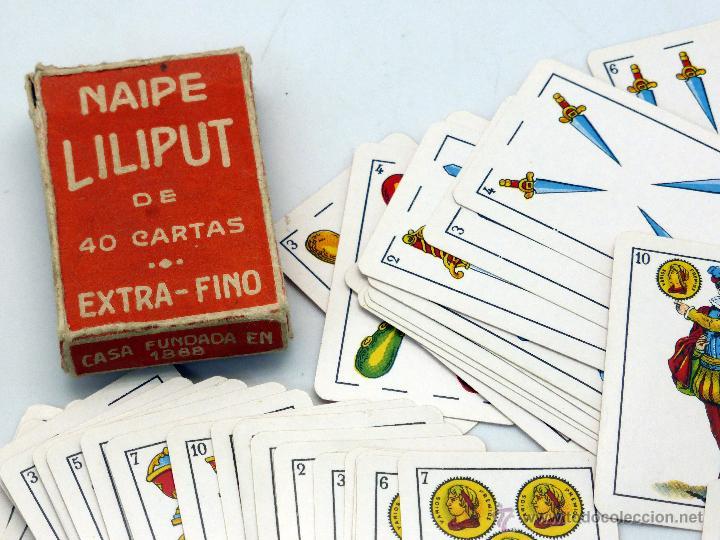 Barajas de cartas: Mini Baraja Liliput Heraclio Fournier 40 cartas completa con caja - Foto 2 - 54027149