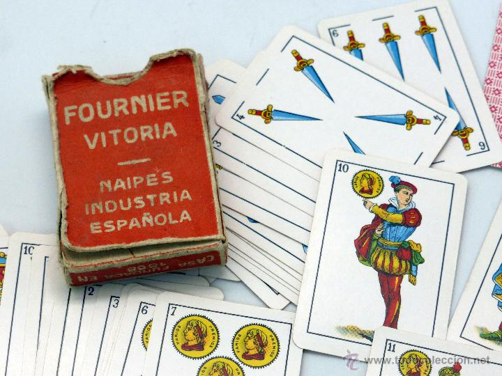 Barajas de cartas: Mini Baraja Liliput Heraclio Fournier 40 cartas completa con caja - Foto 3 - 54027149