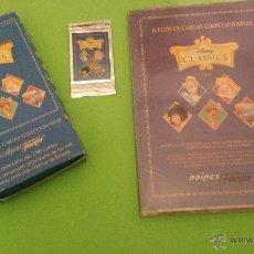 Barajas de cartas: ALBUM CARTAS COLECCIÓN DISNEY CLASSICS FOURNIER MÁS CAJA Y SOBRE. Lote 54062948