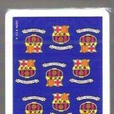 Barajas de cartas: BARAJA Nº 1 DE FOURNIER, NAIPE ESPAÑOL CON EL REVERSO DEL F. C. BARCELONA, FUTBOL, BARÇA. 50 CARTAS. Lote 54064919