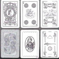 Barajas de cartas: BARAJA SIN COLORES DE NAIPES COMAS, AÑO 1980. 48 CARTAS + 2 COMODINES. SIN ESTRENAR. Lote 79806806