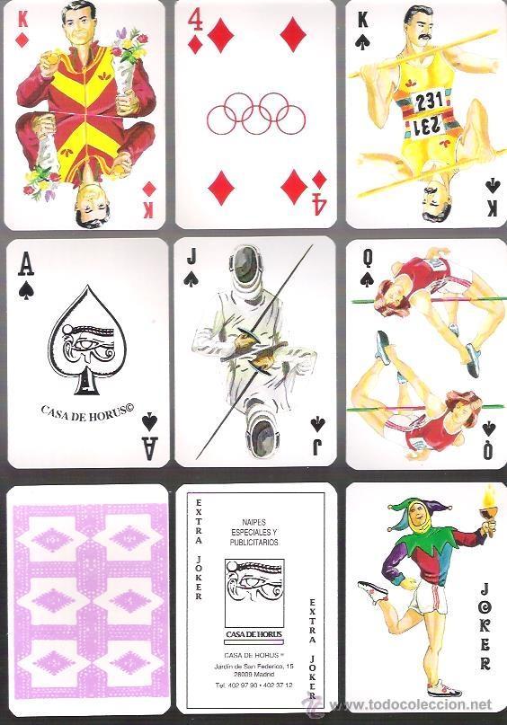 BARAJA OLIMPICA DE CASA DE HORUS, 54 CARTAS EN ESTUCHE DE PLASTICO TIPO LIBRO. SIN ESTRENAR. (Juguetes y Juegos - Cartas y Naipes - Otras Barajas)