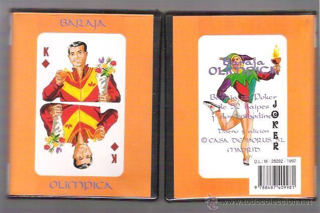 Barajas de cartas: BARAJA OLIMPICA DE CASA DE HORUS, 54 CARTAS EN ESTUCHE DE PLASTICO TIPO LIBRO. SIN ESTRENAR. - Foto 2 - 195516096