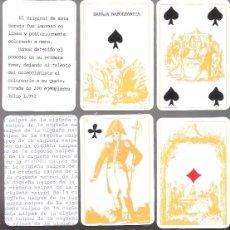 Barajas de cartas: BARAJA NAPOLEONICA, NAIPES LA CIGÜEÑA, EDICION LIMITADA Y NUMERADA DE 200 UNIDADES, Nº 200. Lote 55815773