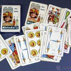 Barajas de cartas: BARAJA ESPAÑOLA PUBLICIDAD MIRINDA NARANJA LIMÓN FOURNIER 40 CARTAS COMPLETA AÑOS 70. Lote 72746575