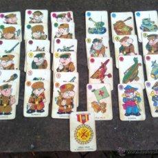 Barajas de cartas: BARAJA EL JUEGO DE LA GUERRA (EDICIONES RECREATIVAS, 1966) - COMPLETA. Lote 54349601