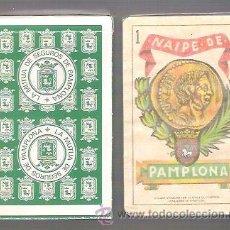 Barajas de cartas: BARAJA NAIPE DE PAMPLONA DE 1980, 40 CARTAS PRECINTADAS Y EN ESTUCHE DE CARTON. MUTUA SEGUROS.. Lote 54353527