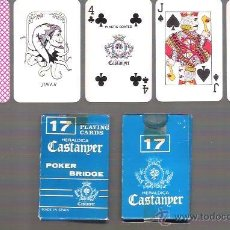 Barajas de cartas: MINI BARAJA POKER BRIDGE CASTANYER 17, SIN ESTRENAR. 52 CARTAS + 2 COMODINES.. Lote 54354201