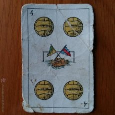 Barajas de cartas: ANTIGUA CARTA 4 DE OROS. CHOCOLATES AMATLLER. Lote 54381767