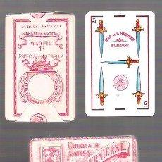 Barajas de cartas: BARAJA HIJA DE BRAULIO FOURNIER, BURGOS. ESPECIAL ESTRELLA, PRECINTADA. TIMBRE ROJO, Nº 248 EN 5 ESP. Lote 155002902