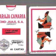 Barajas de cartas: BARAJA CANARIA COFIO, CHO - JUAÁ, FOURNIER, 40 CARTAS PRECINTADA Y EN ESTUCHE DE CARTON.. Lote 167479797