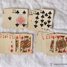 Barajas de cartas: BARAJA POCKER HERACLIO FOURNIER MINIATURA INCOMPLETA. Lote 54399381