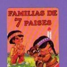 Barajas de cartas: CARTA NAIPE BARAJA FAMILIAS DE 7 PAISES HERACLIO FOURNIER. Lote 54421845
