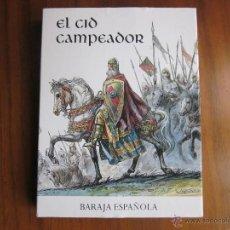 Barajas de cartas: BARAJA ESPAÑOLA DE FOURNIER EL CID CAMPEADOR EDITADA POR CAJA DE BURGOS. Lote 54426515