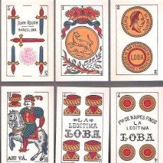Barajas de cartas - BARAJA LA LEGITIMA LOBA Nº 5, 48 CARTAS SIN ESTRENAR, JUAN ROURA, TIMBRE ROJO DE 1,25 PTAS. - 54497571