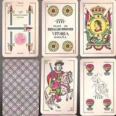 Barajas de cartas: BARAJA MARCA EL TITI, 40 CARTAS, TIMBRE ROJO DE 1,25 PTAS. 1939 PRECINTADA. HIJOS DE H. FOURNIER.. Lote 54497679