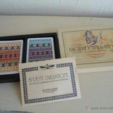 Barajas de cartas: BARAJA ANCIENT CIVILISATIONS - HERACLIO FOURNIER - VITORIA - 2 JUEGO COMPLETOS DE CARTAS - NUEVAS. Lote 141686744
