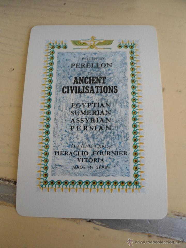 Barajas de cartas: BARAJA ANCIENT CIVILISATIONS - HERACLIO FOURNIER - VITORIA - 2 JUEGO COMPLETOS DE CARTAS - NUEVAS - Foto 4 - 141686744