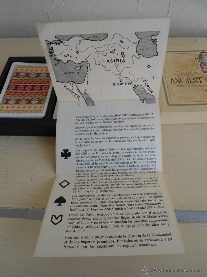 Barajas de cartas: BARAJA ANCIENT CIVILISATIONS - HERACLIO FOURNIER - VITORIA - 2 JUEGO COMPLETOS DE CARTAS - NUEVAS - Foto 5 - 141686744