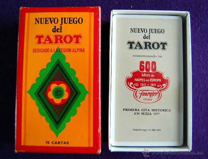 BARAJA TAROT FOURNIER. NUEVO JUEGO. DEDICADO A LA REGION ALPINA. PRECINTADO. 1977. CAJA ORIGINAL (Juguetes y Juegos - Cartas y Naipes - Barajas Tarot)