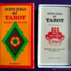 Barajas de cartas: BARAJA TAROT FOURNIER. NUEVO JUEGO. DEDICADO A LA REGION ALPINA. PRECINTADO. 1977. CAJA ORIGINAL. Lote 54532666