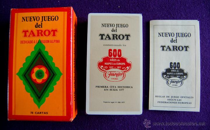 Barajas de cartas: BARAJA TAROT FOURNIER. NUEVO JUEGO. DEDICADO A LA REGION ALPINA. PRECINTADO. 1977. CAJA ORIGINAL - Foto 2 - 54532666