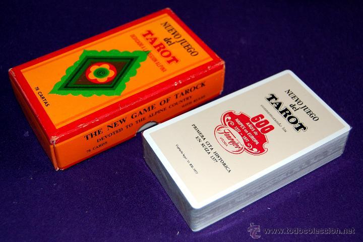 Barajas de cartas: BARAJA TAROT FOURNIER. NUEVO JUEGO. DEDICADO A LA REGION ALPINA. PRECINTADO. 1977. CAJA ORIGINAL - Foto 3 - 54532666