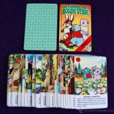 Barajas de cartas: BARAJA INFANTIL FOURNIER. LAS FABULAS DEL BOSQUE VERDE. 32 +1 CARTAS. 1983. SIN CAJA.. Lote 54536135