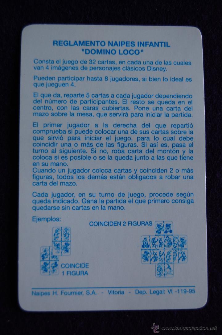 Barajas de cartas: BARAJA INFANTIL FOURNIER. DOMINO LOCO. SIN USAR. 33 CARTAS. 1995. - Foto 2 - 54541266