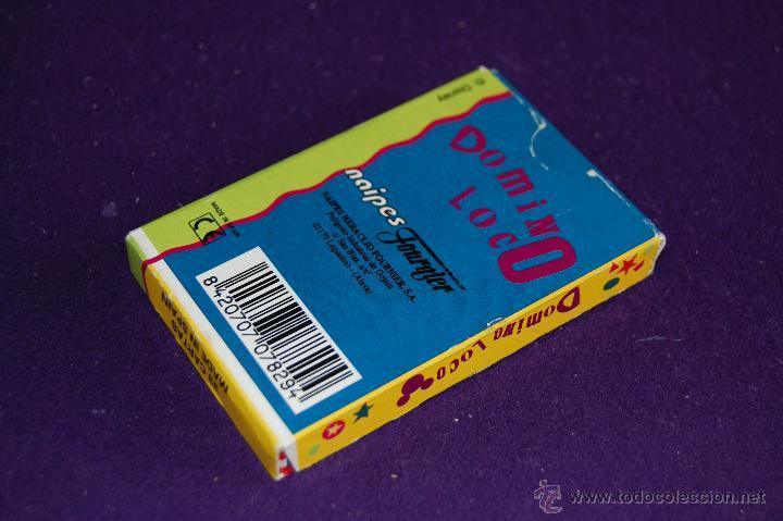 Barajas de cartas: BARAJA INFANTIL FOURNIER. DOMINO LOCO. SIN USAR. 33 CARTAS. 1995. - Foto 4 - 54541266
