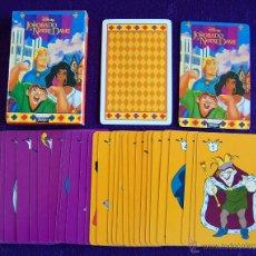 Barajas de cartas: BARAJA INFANTIL FOURNIER. EL JOROBADO DE NOTRE DAME. SIN USAR. COMPLETA. 33 CARTAS. 1996. Lote 54542697