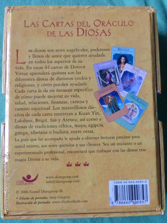Barajas de cartas: Las cartas del Oráculo de las Diosas. Libro + Cartas-Dra. Doreen Virtue - 44 CARTAS CON LIBRO GUÍA. - Foto 6 - 54549361