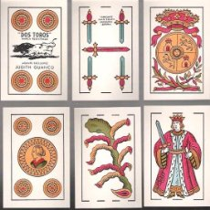 Barajas de cartas: BARAJA DOS TOROS, JUAN ROURA, SIN INDICES NI SELLO, SIN ESTRENAR, ENVOLTORIO ORIGINAL, 40 CARTAS.. Lote 54572126