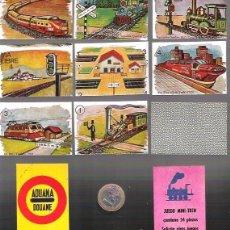 Barajas de cartas: BARAJA JUEGO MINI TREN Nº 22. SIN ESTRENAR. 55 CARTAS, MAQUINAS DE TREN CON TARJETA REGLAS JUEGO.. Lote 57986369