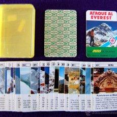 Barajas de cartas: BARAJA INFANTIL. LOS MINIS DE FOURNIER. ATAQUE AL EVEREST. SIN USAR. COMPLETA. 24+1 CARTAS.. Lote 54602471
