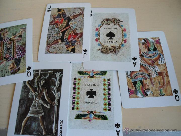 Barajas de cartas: BARAJA ANCIENT CIVILISATIONS - HERACLIO FOURNIER - VITORIA - 2 JUEGO COMPLETOS DE CARTAS - NUEVAS - Foto 7 - 141686744