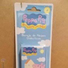 Barajas de cartas: BARAJA FOURNIER. PEPPA PIG. PRECINTADA EN ESTUCHE ORIGINAL. COMPLETA.. Lote 175473139