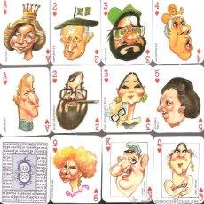 Barajas de cartas: BARAJA EL JUEVES, CARICATURAS DE PERSONAJES ESPAÑOLES, COMPLETA 52 CARTAS SIN ESTRENAR.. Lote 234471545