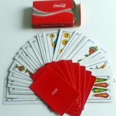 Barajas de cartas: ESTUCHE BARAJA ESPAÑOLA - DORSO Y ESTUCHE PUBLICIDAD DE COCA COLA.. Lote 54766295