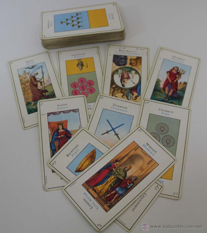 BARAJA DE TAROT. GRIMAUD. BILINGÜE. COMPLETA. AÑOS 40 (Juguetes y Juegos - Cartas y Naipes - Barajas Tarot)