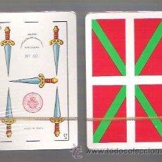 Barajas de cartas: BARAJA NAIPE ESPAÑOL, EL CIERVO, 48 CARTAS, IKURRIÑA, BANDERA EUSKADI, 1985, PRECINTADA, T. ROJO.. Lote 54831560