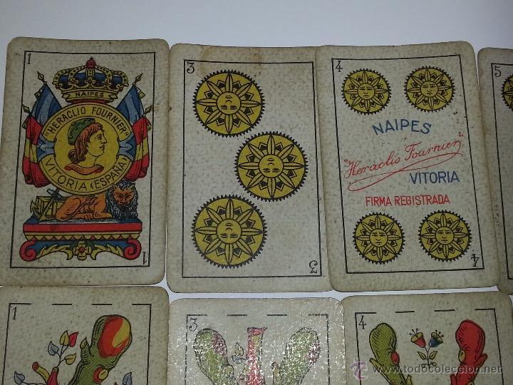 Barajas de cartas: HERACLIO FOURNIER : BARAJA ESPAÑOLA Vª E HIJOS OPACA Nº 3 TIMBRE DE EXPORTACION AÑO 1904 INCOMPLETA - Foto 5 - 54837600