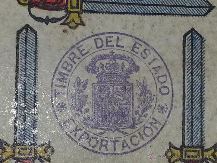Barajas de cartas: HERACLIO FOURNIER : BARAJA ESPAÑOLA Vª E HIJOS OPACA Nº 3 TIMBRE DE EXPORTACION AÑO 1904 INCOMPLETA - Foto 8 - 54837600