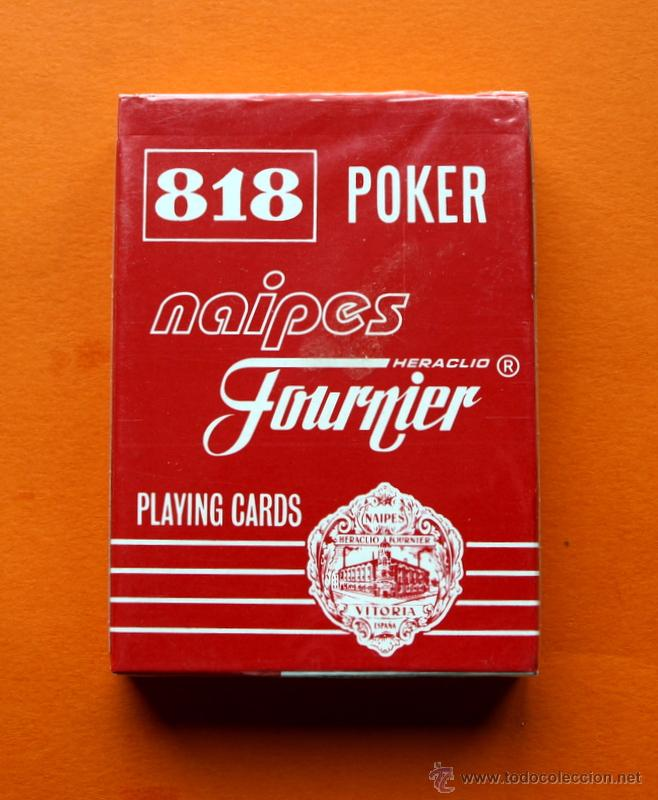 BARAJA 818 POKER - PLAYING CARDS - NAIPES FOURNIER - PRECINTADA - (Juguetes y Juegos - Cartas y Naipes - Otras Barajas)